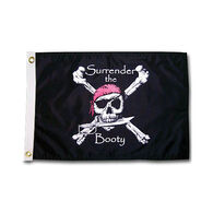 "Pirate Heads ""Surrender the Booty"" Boat Flag"