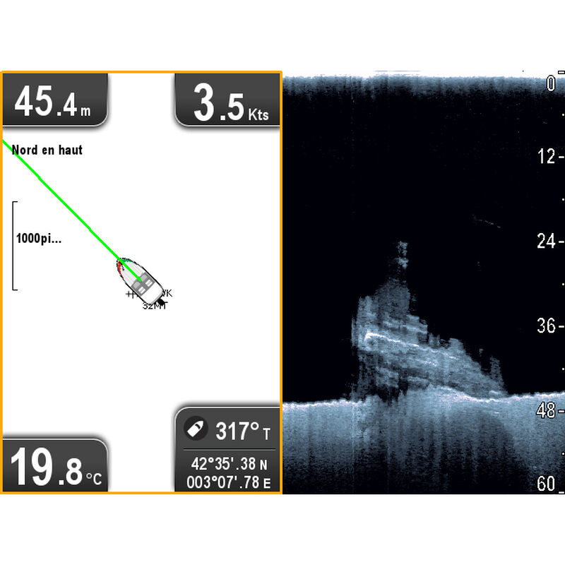 Raymarine Dragonfly 5 DVS With Dual-Channel CHIRP DownVision Sonar image number 6