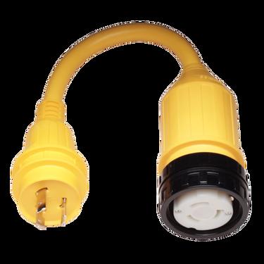 Marinco Pigtail Adapter, 50A 125V / 30A 125V