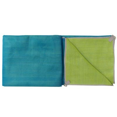 CGEAR Original Sand-Free Outdoor Camping Mat, Blue/Green Medium