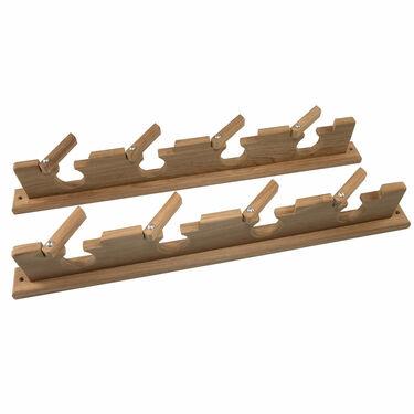 SeaForce Teak Lock-In 4 Rod Holder Storage Rack