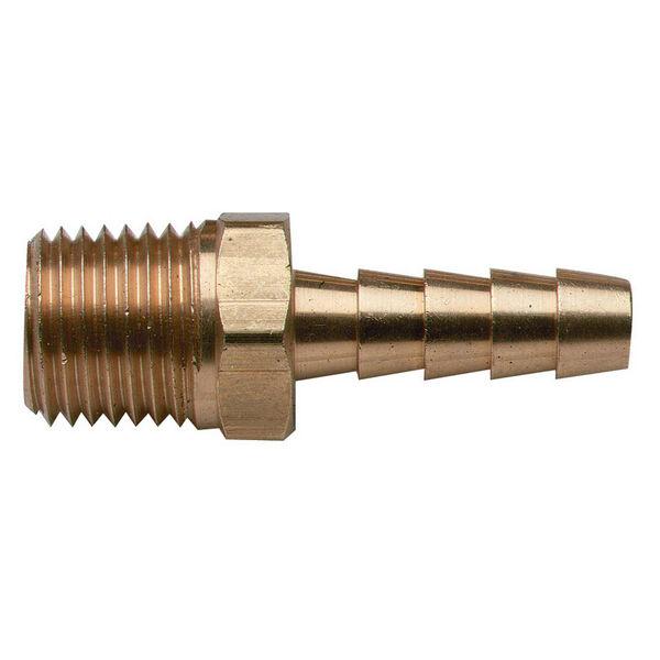 "Brass Fuel Barb, 1/4"" NPT x 1/4"""