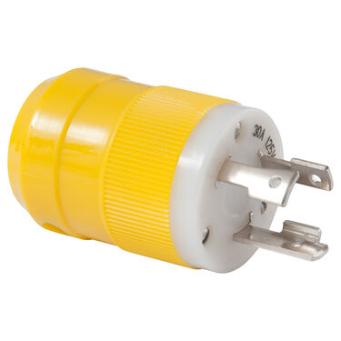 Marinco 30-Amp 125V 2P3W (L5-30P) Locking Male Plug