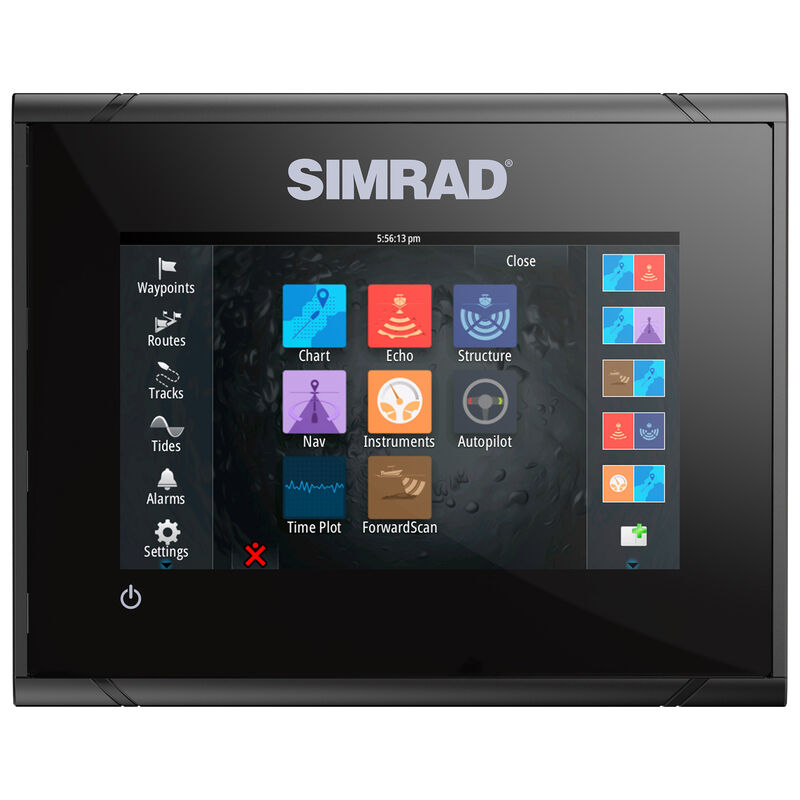 Simrad GO5 XSE Fishfinder Chartplotter With TotalScan Transducer And Insight USA image number 6