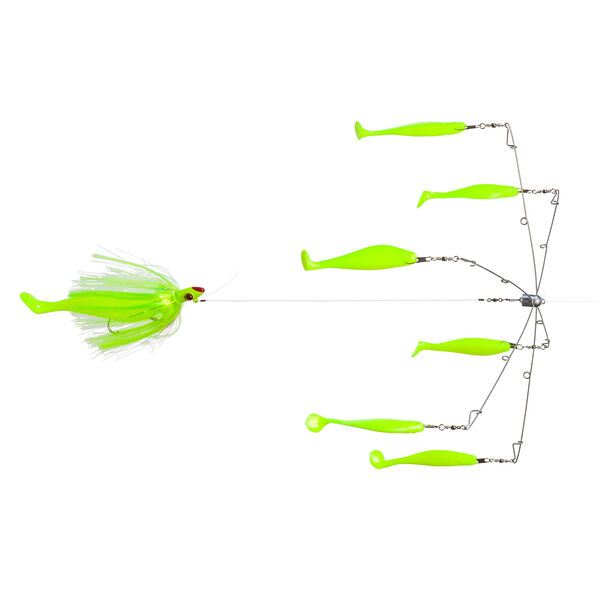 "Rock Fish Candy 6-Arm 20"" Umbrella Rig with 4 oz. Parachute Chaser"