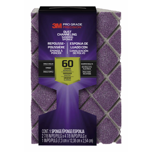 3M Pro Grade Precision Sanding Sponge, 60-grit