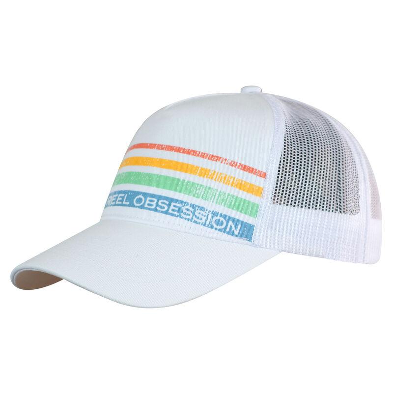 Reel Obsession Men's Vintage Stripe Trucker Hat image number 2