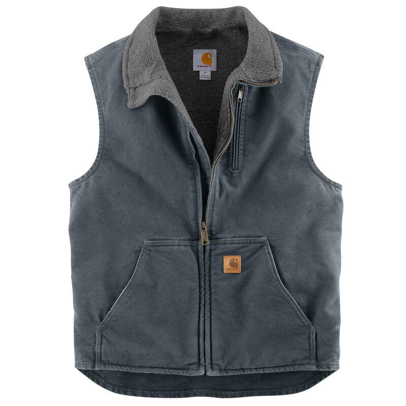Carhartt Men's Sandstone Sherpa-Lined Mock-Neck Vest image number 4