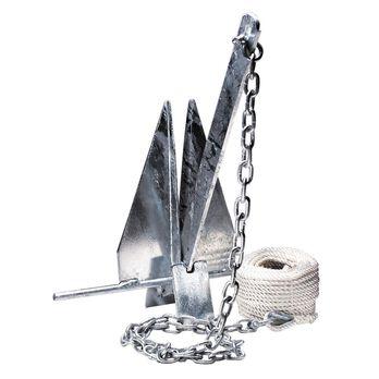 Overton's #13 Fluke-Style Galvanized Boat Anchor Kit