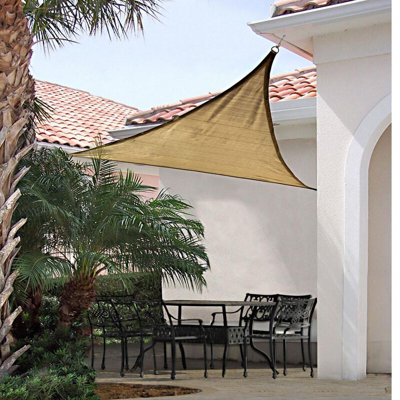 ShadeLogic Sun Shade Sail, Triangle- Sand 16' x 16' x 16' image number 1