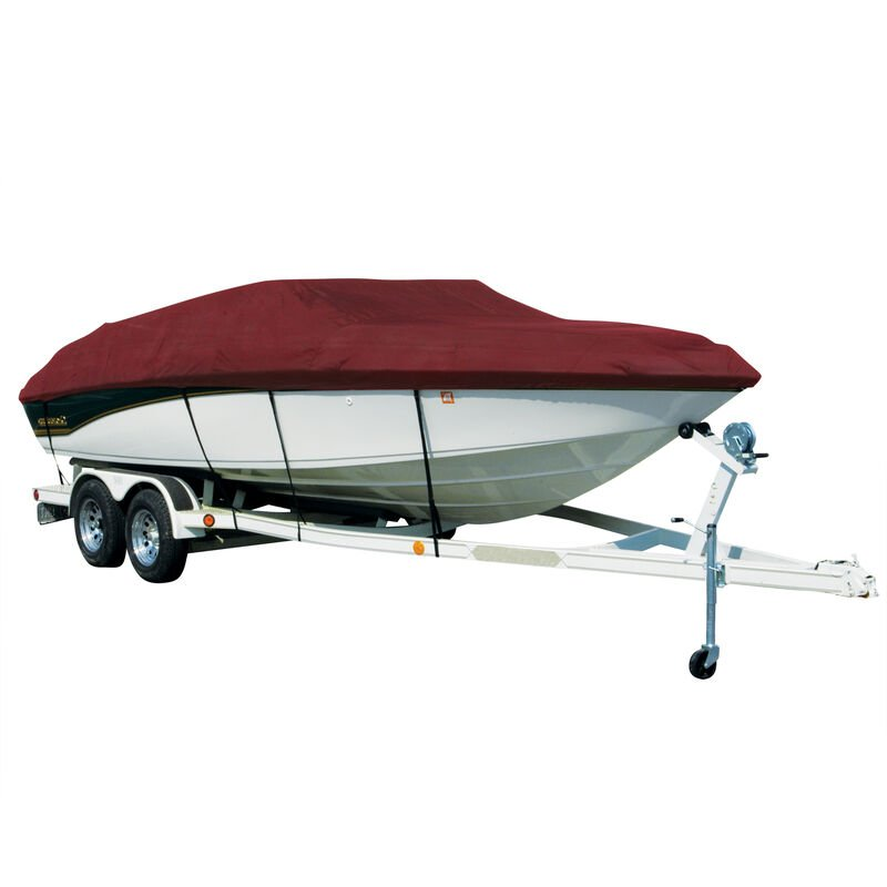 Covermate Sharkskin Plus Exact-Fit Cover for Chaparral 244 Sunesta 244 Sunesta W/Bimini Laid Aft On Support Struts image number 3