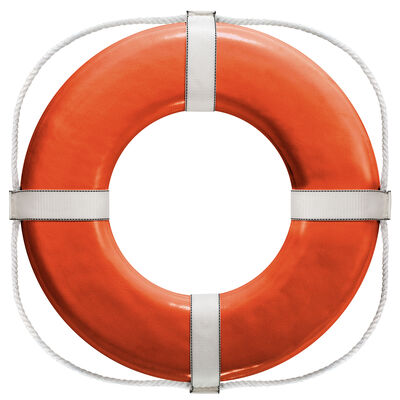 """Life Ring USCG Approved, White (24"""")"""