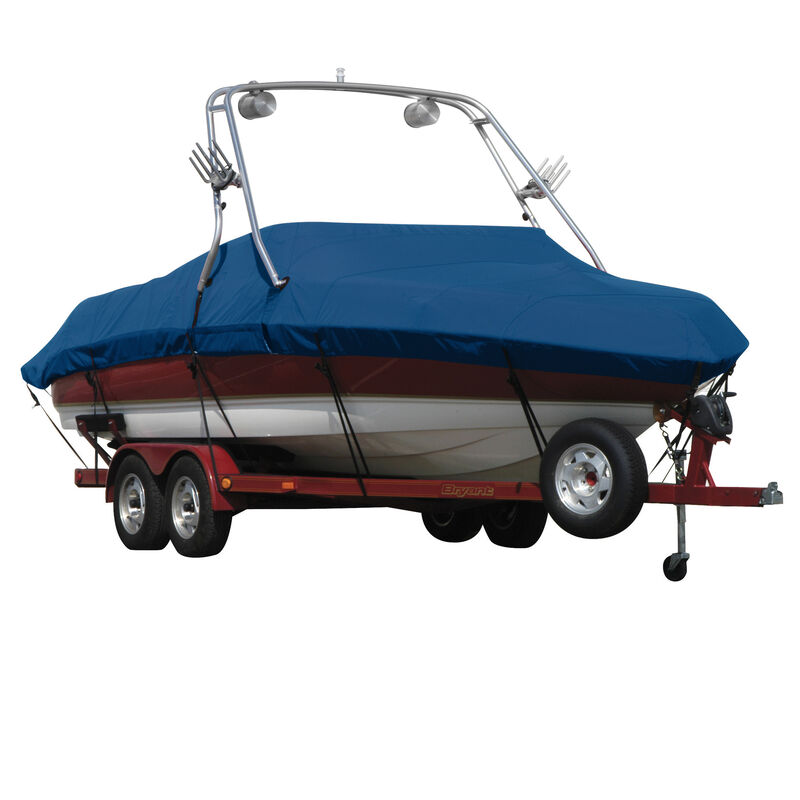 Exact Fit Covermate Sharkskin Boat Cover For MALIBU SUNSETTER 23 XTI w/TITAN TOWER CUTOUTS COVERS SWIM PLATFORM image number 2