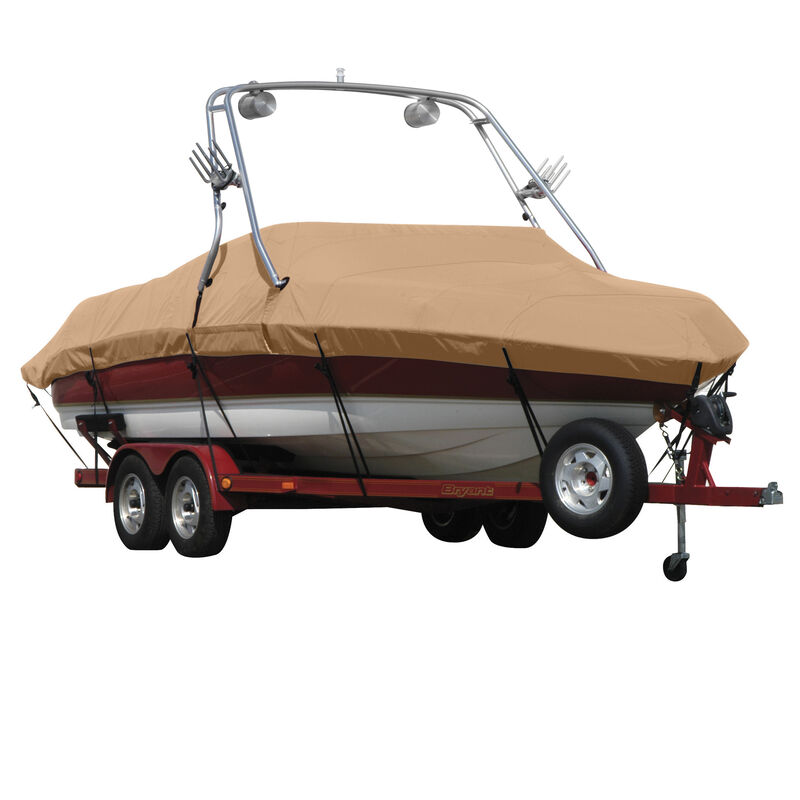 Exact Fit Covermate Sunbrella Boat Cover For MALIBU WAKESETTER 21 VLX w/TITAN TOWER CUTOUTS Doesn t COVER PLATFORM image number 5