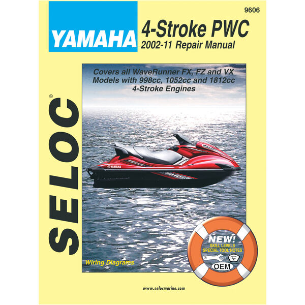 Seloc Outboard Repair Manual For Yamaha/PWC 4-Stroke Engines