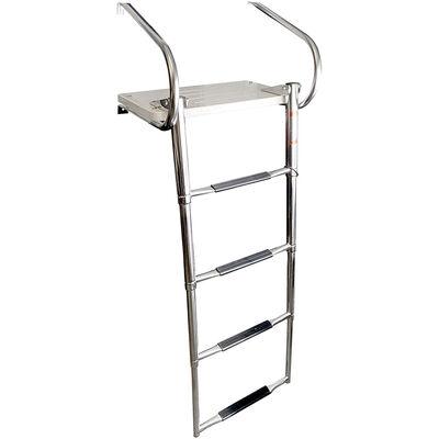 Overton's Swim Platform w/ 4 Step Telescopic & Folding Stainless Steel Ladder