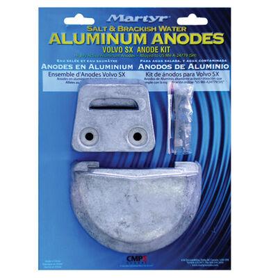 Complete Aluminum Anode Kit, Volvo SX