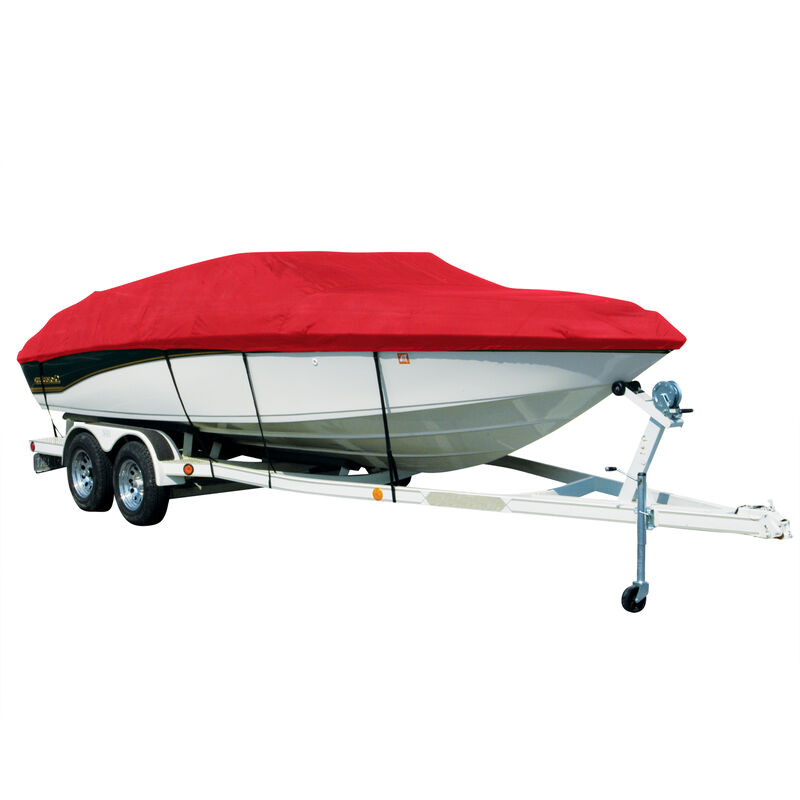 Exact Fit Covermate Sharkskin Boat Cover For TAHOE Q3 w/MOTOR GUIDE TROLL MOTOR image number 8