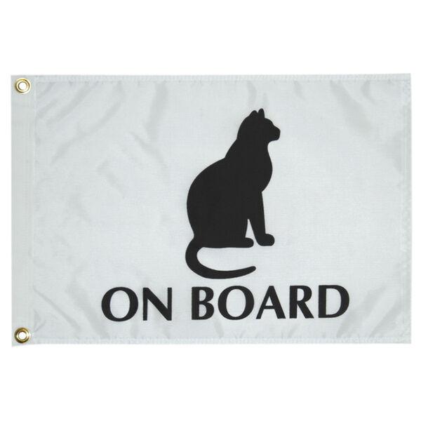 Cat On Board Boat Flag