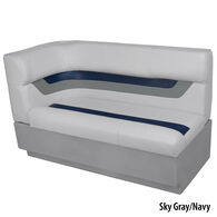 Toonmate Designer Pontoon Right-Side Corner Couch, Sky Gray