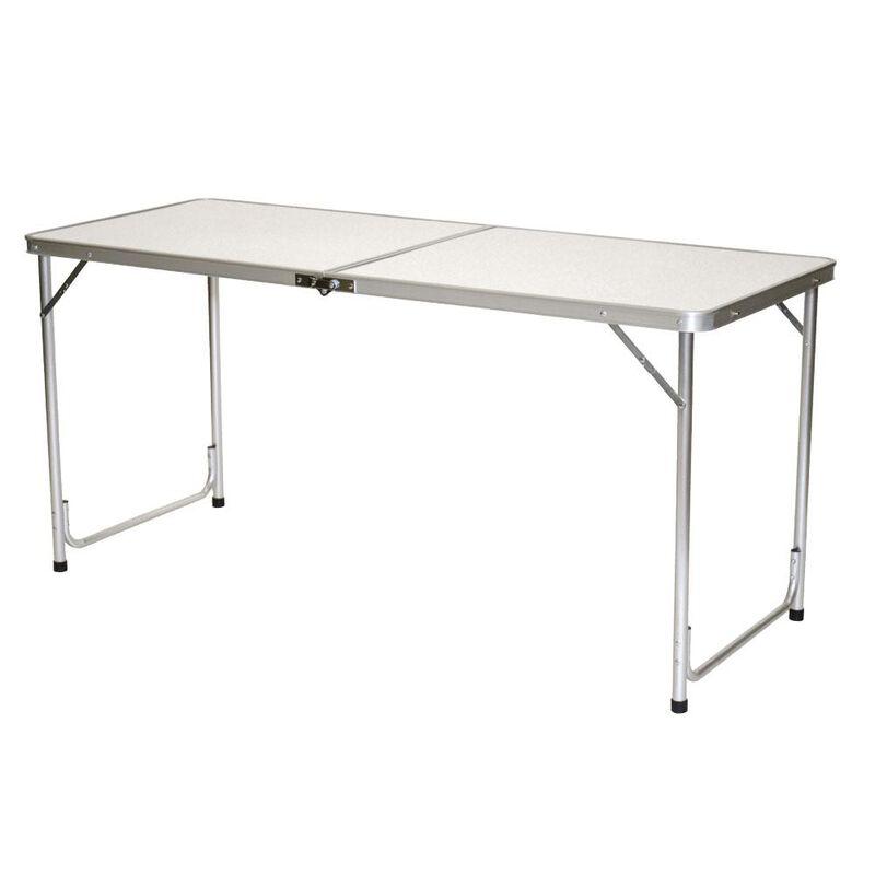 Fold 'N Half Aluminum Table, 5' image number 2