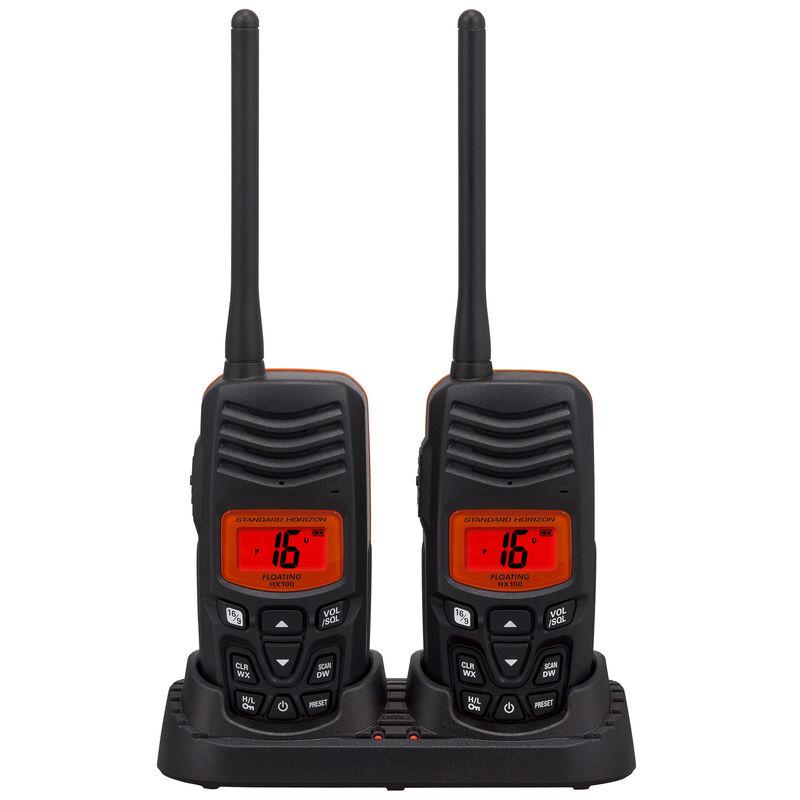 Standard Horizon HX100 Floating Handheld VHF Radio Two-Pack image number 2