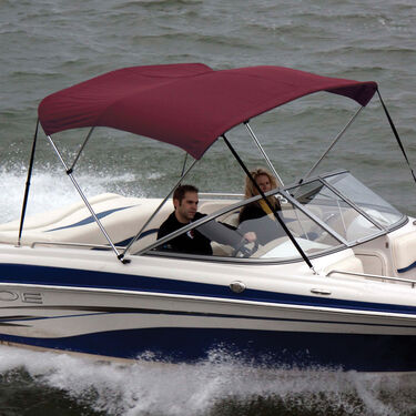 Shademate Polyester Stainless 3-Bow Bimini Top 6'L x 46''H 73''-78'' Wide