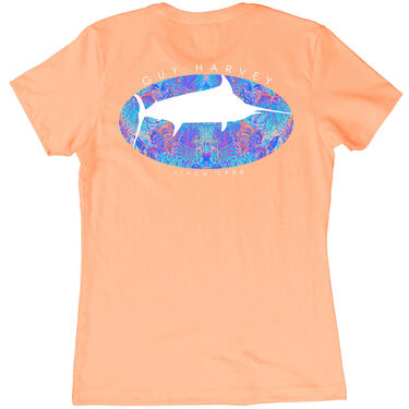 Guy Harvey Women's Marlin Paradise Short-Sleeve Tee