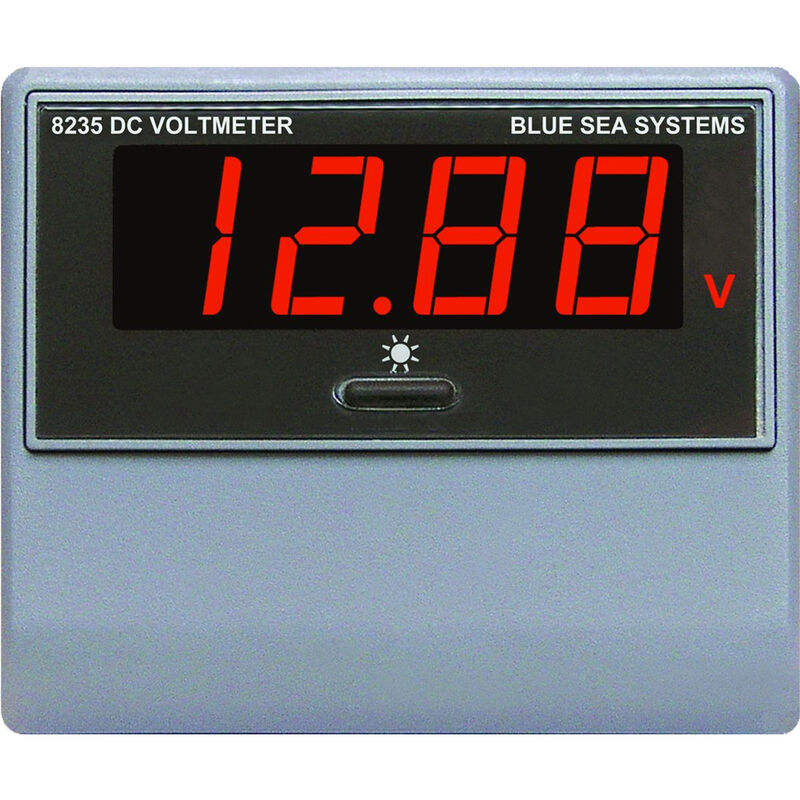 Blue Sea DC Digital Voltmeter, 0-60V image number 1