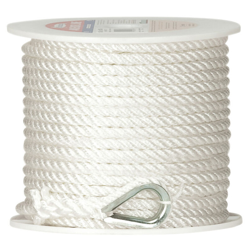 """Twisted Nylon Anchor Line, 3/8"""" x 100' image number 1"""