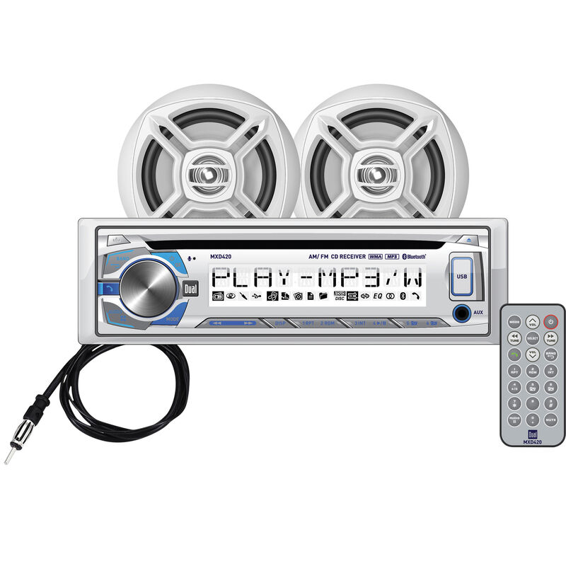 """Dual MCP420BT CD/USB/MP3/WMA Bluetooth Receiver With Two 6.5"""" Speakers image number 1"""