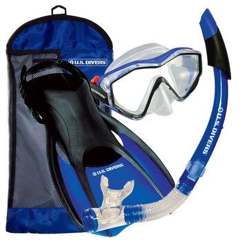 U.S. Divers Anacapa Mask, Snorkel, and Fin Travel Set