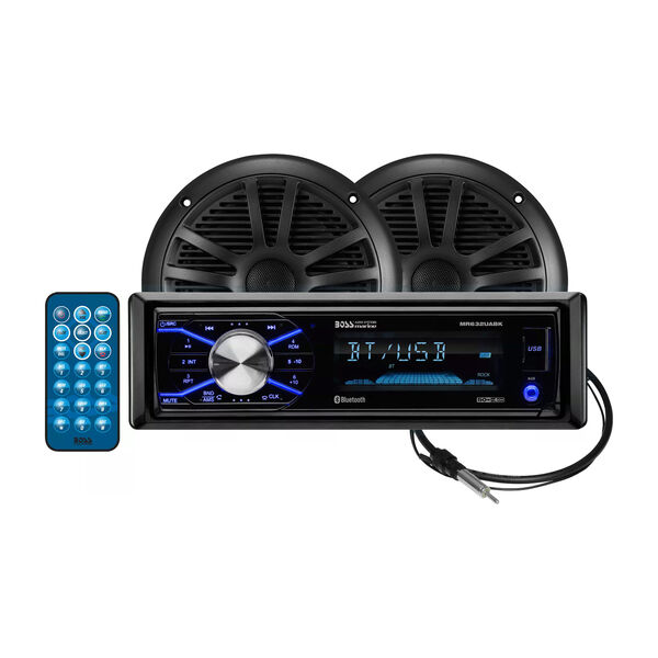 Boss Audio Marine AM/FM Receiver with Bluetooth and Speakers