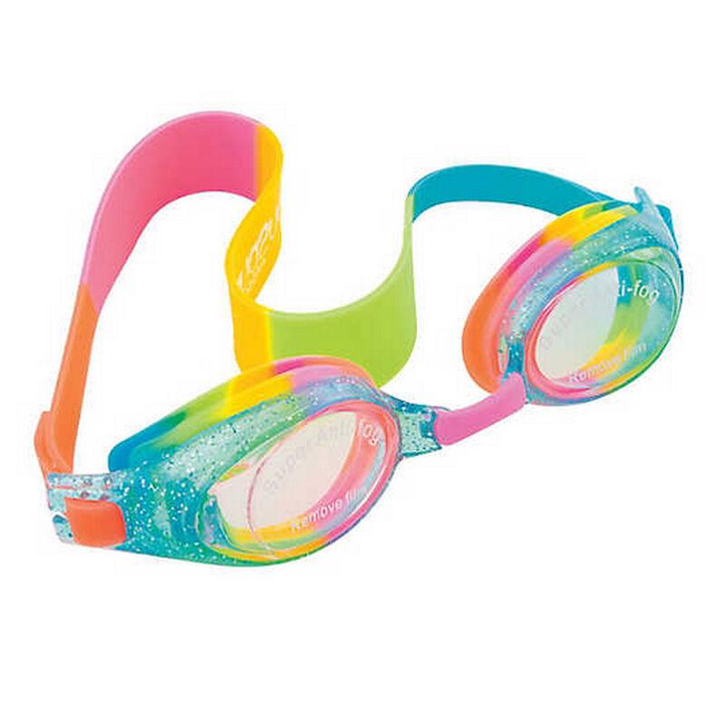 Aqua2ude Swim Goggles, Rainbow Glitter image number 1