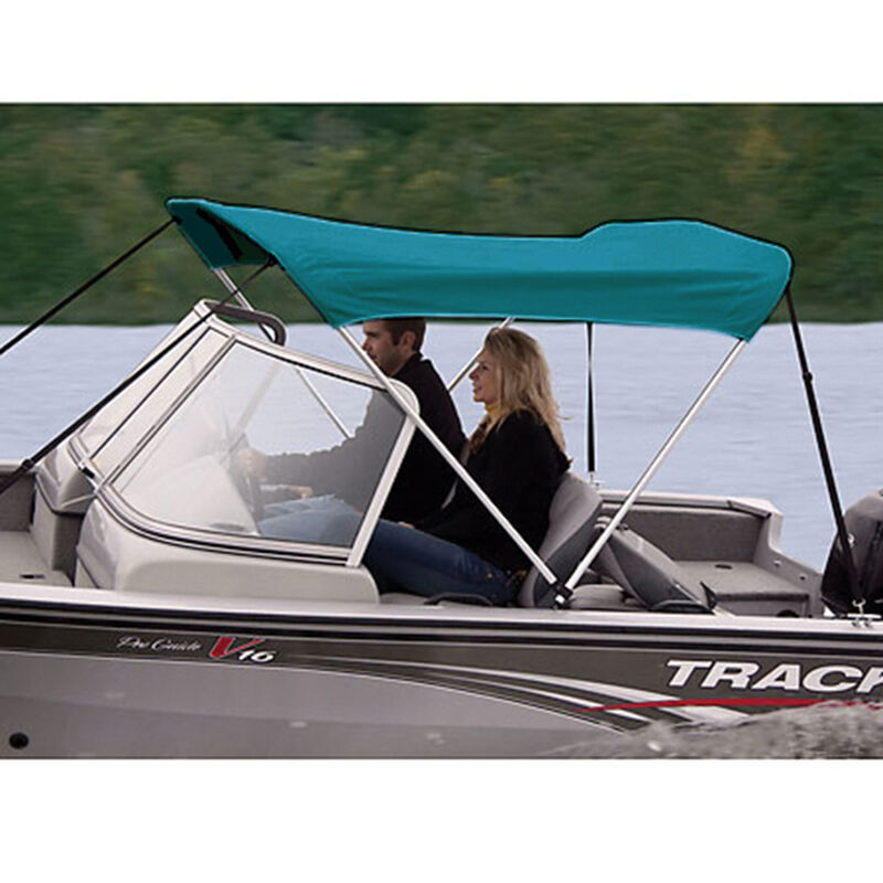 """Shademate Polyester 2-Bow Bimini Top, 5'6""""L x 42""""H, 61""""-66"""" Wide image number 2"""