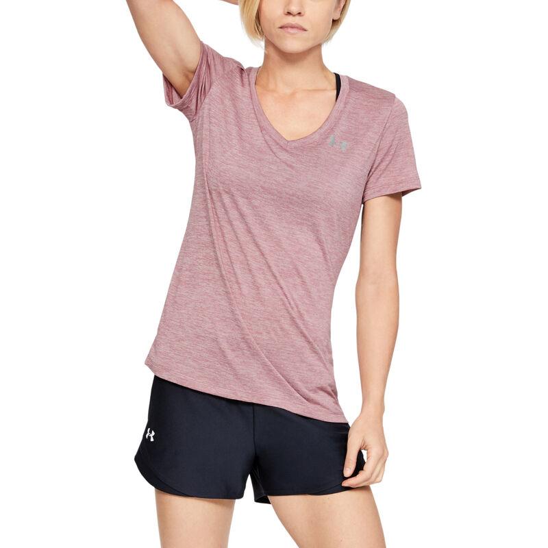 Under Armour Women's UA Tech Twist Short-Sleeve V-Neck Tee image number 10