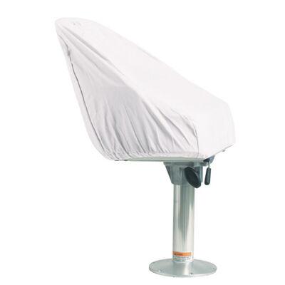 Overton's Pedestal Seat Cover - White Vinyl