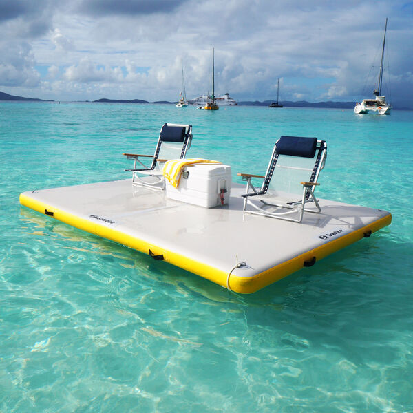 """Solstice Inflatable Floating Dock, 6' x 5' x 6"""""""