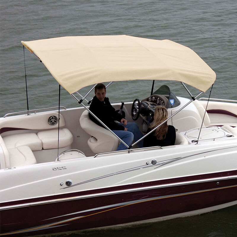 """Shademate Polyester 4-Bow Bimini Top Fabric, 8'L x 54""""H, 61""""-66"""" Wide FABRIC ONLY image number 6"""