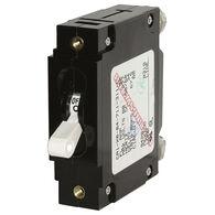 Blue Sea Circuit Breaker C-Series Toggle Switch, Single Pole, 80A, White
