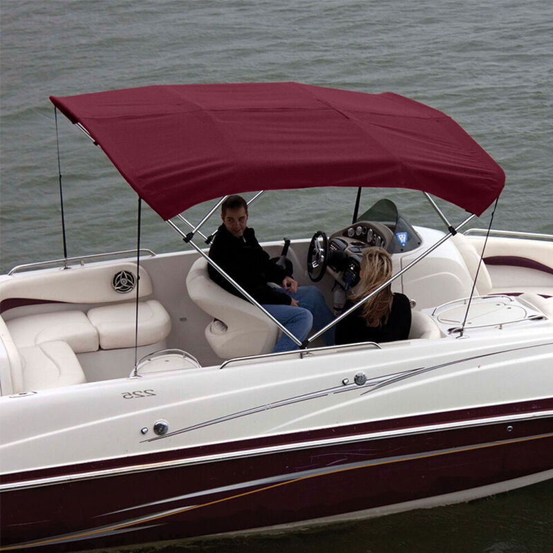 """Shademate Polyester 4-Bow Bimini Top Fabric, 8'L x 54""""H, 61""""-66"""" Wide FABRIC ONLY image number 3"""