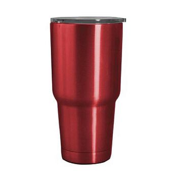 Stainless Steel Tumbler, 30 oz., Red