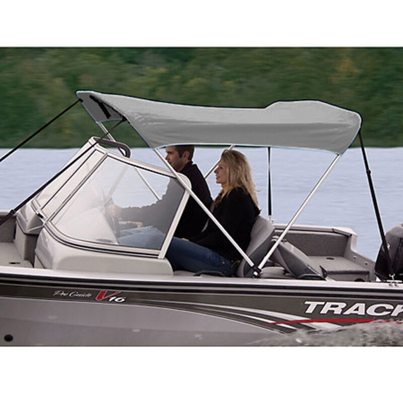 """Shademate Polyester 2-Bow Bimini Top, 5'6""""L x 42""""H, 61""""-66"""" Wide image number 4"""