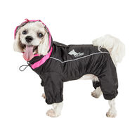 Helios Weather-King Ultimate Windproof Full Bodied Pet Jacket, Black X-Small