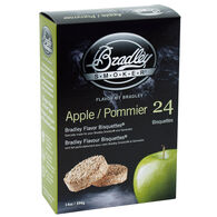 Bradley Flavor Bisquettes, 24-Pack, Apple