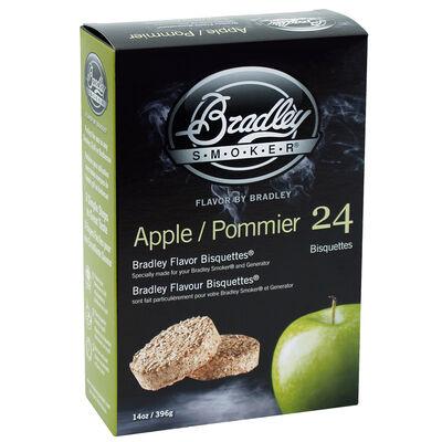 Bradley Flavor Bisquettes, 24-Pack, Apple