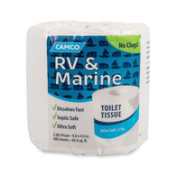 Camco 2-Ply RV and Marine Toilet Paper, Single Roll, 400 Sheets