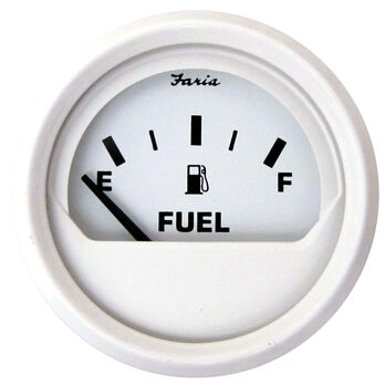 "Faria 2"" Dress White Series Fuel Level Gauge"