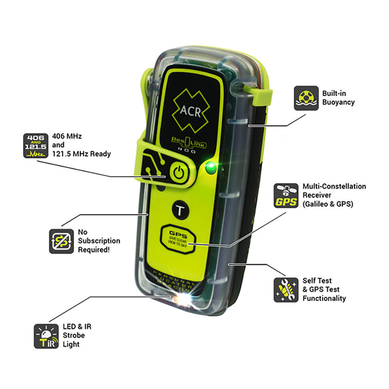 ACR ResQLink 400 Personal Locator Beacon Without Display image number 2