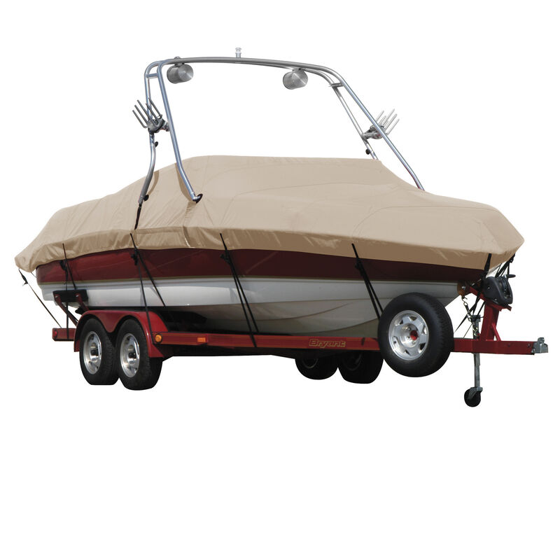 Exact Fit Covermate Sharkskin Boat Cover For MALIBU SUNSETTER 23 XTI w/TITAN TOWER CUTOUTS COVERS SWIM PLATFORM image number 8